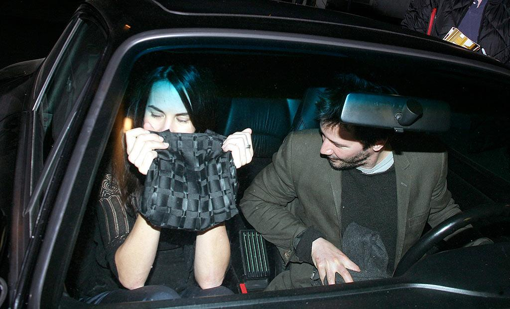 """Looks like Keanu's lady isn't ready for the spotlight. Sweetie, you're going to need a bigger purse than that! VWR/<a href=""""http://www.x17online.com"""" target=""""new"""">X17 Online</a> - April 1, 2008"""