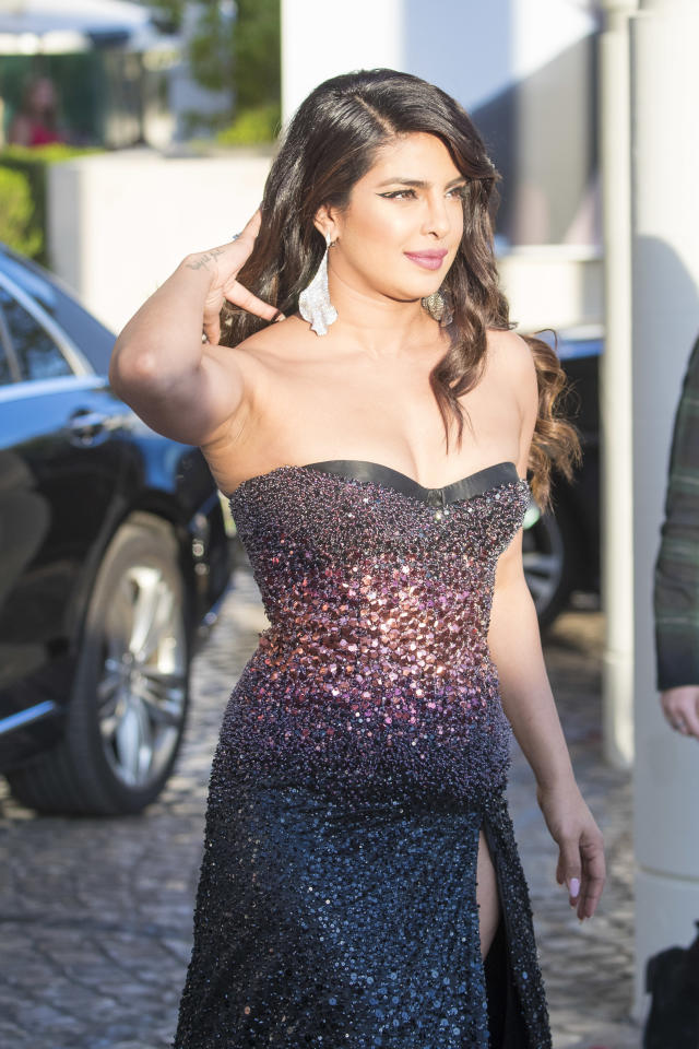 CANNES, FRANCE - MAY 16: Priyanka Chopra is seen during the 72nd annual Cannes Film Festival on May 16, 2019 in Cannes, France. (Photo by Iconic/GC Images)