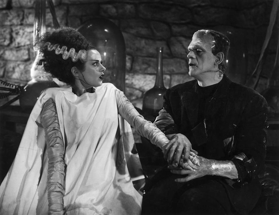Not quite love at first sight. Elsa Lanchester and Boris Karloff in 1936's 'The Bride of Frankenstein' (credit: Universal)