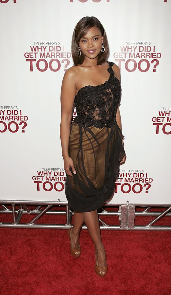 "<a href=""http://movies.yahoo.com/movie/contributor/1808806485"">Sharon Leal</a> at the New York City premiere of <a href=""http://movies.yahoo.com/movie/1810073266/info"">Tyler Perry's Why Did I Get Married Too?</a> - 03/22/2010"