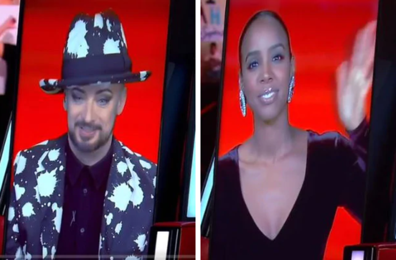 the voice boy george and kelly rowland
