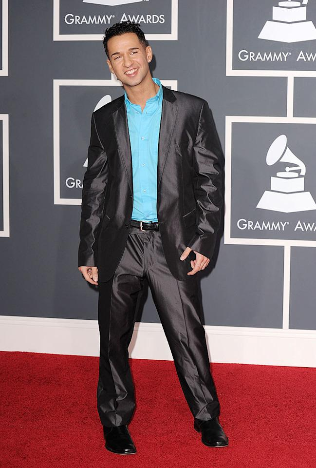 "Mike ""The Situation"" Sorrentino  Grade: D+   The ""Jersey Shore"" star probably didn't score any phone numbers at the Grammys thanks to this disheveled getup. Steve Granitz/<a href=""http://www.wireimage.com"" target=""new"">WireImage.com</a> - January 31, 2010"