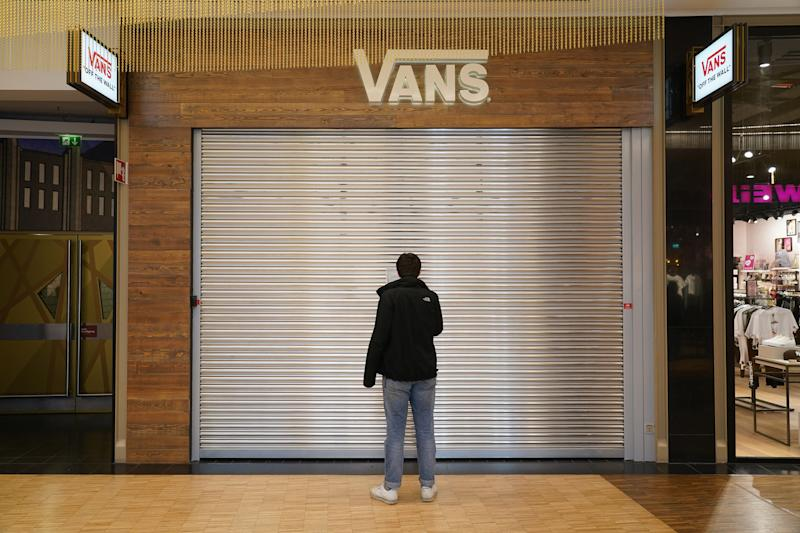 A closed Vans store, March 16, 2020.