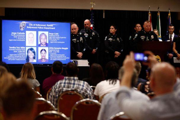 PHOTO: Hollywood's police chief Chris O'Brien speaks during a news conference in the case against a Florida nursing home where 12 patients died in sweltering heat after Hurricane Irma in 2017 on, Aug. 27, 2019, in Hollywood, Fla. (Brynn Anderson/AP)