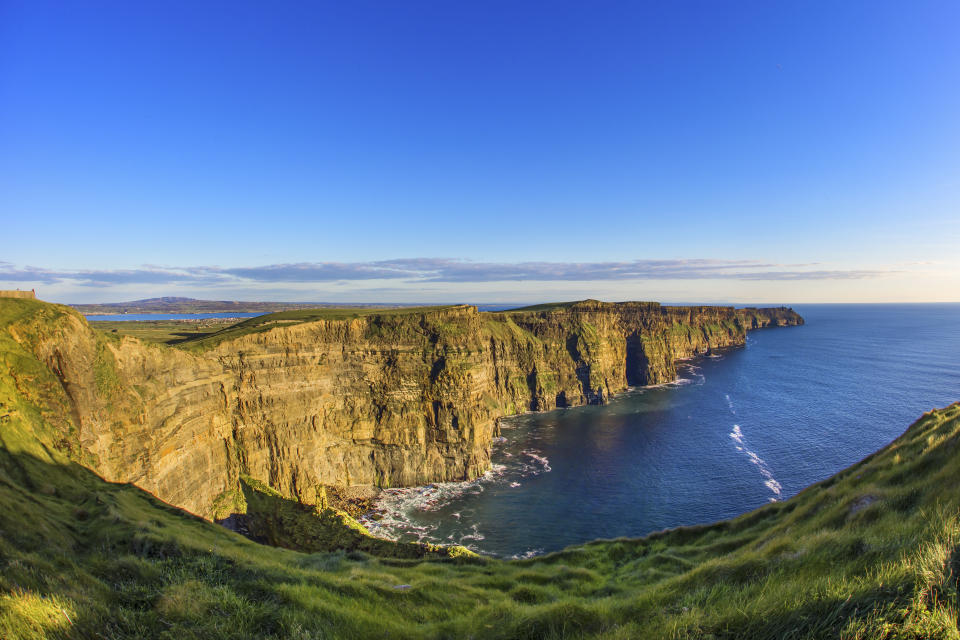 The Cliffs of Moher in County Clare are Ireland's most visited natural attraction. Ireland is one of the few European countries still allowing American tourists. (Photo: Getty)