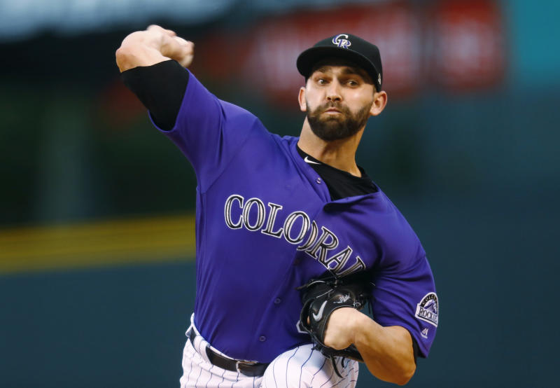 Tyler Chatwood is heading to Chicago. AP