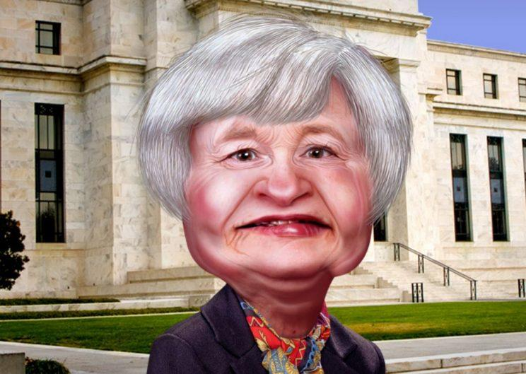 Fed Chair Janet Yellen Caricature