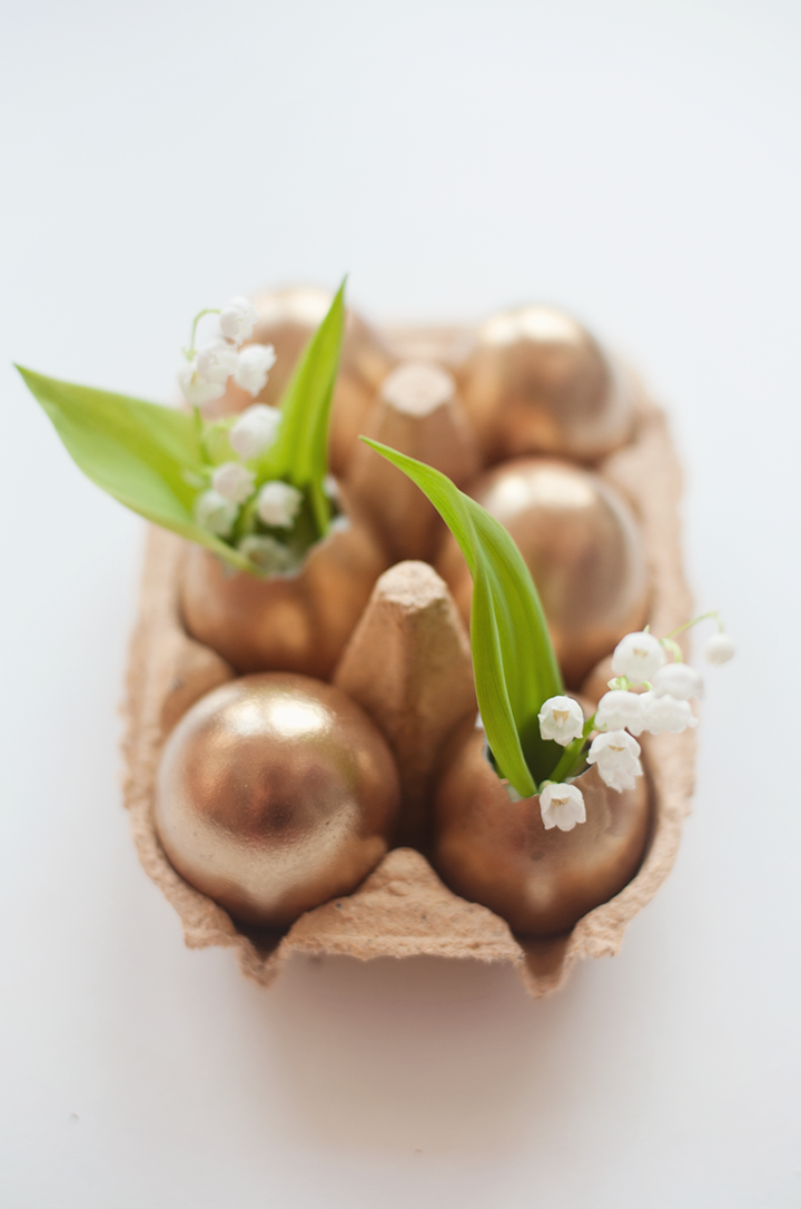 "<p>Keep your eggs contemporary with a striking gold or bronze hue. Crack open the top and you can even infuse your favorite spring flowers. </p><p><strong>Get the tutorial at <a href=""http://79ideas.org/2013/03/diy-make-your-own-golden-easter-eggs.html#.UzRira1dUri"" rel=""nofollow noopener"" target=""_blank"" data-ylk=""slk:79ideas"" class=""link rapid-noclick-resp"">79ideas</a>. </strong></p><p><strong><a class=""link rapid-noclick-resp"" href=""https://www.amazon.com/Krylon-K15151002-Interior-Exterior-Decorator/dp/B000MRUYI4/?tag=syn-yahoo-20&ascsubtag=%5Bartid%7C10050.g.1282%5Bsrc%7Cyahoo-us"" rel=""nofollow noopener"" target=""_blank"" data-ylk=""slk:SHOP GOLD SPRAY PAINT"">SHOP GOLD SPRAY PAINT</a><br></strong></p>"