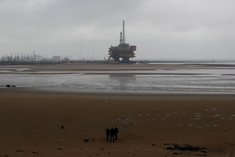 FILE PHOTO: Shell's Brent Delta oil platform is towed into Hartlepool