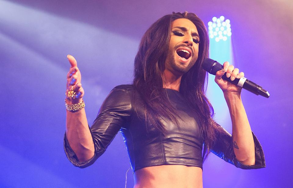 The drag queen won the 2014 Eurovision. (PA)