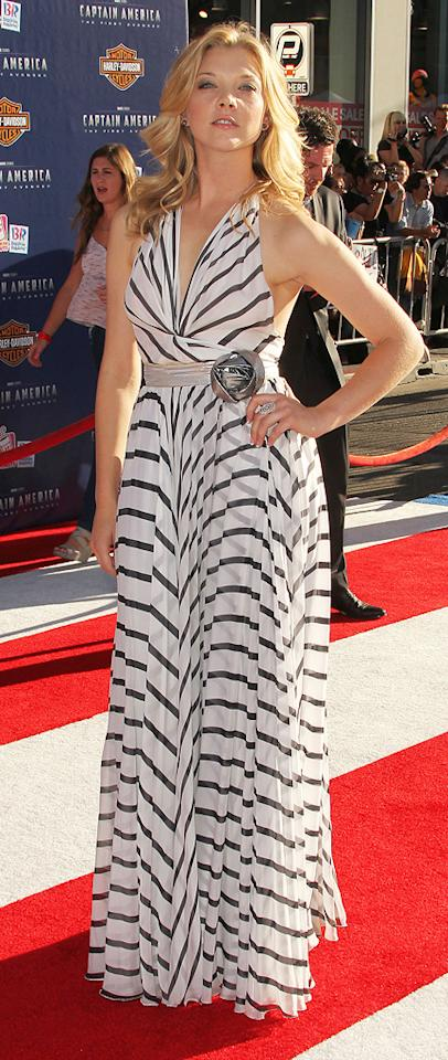 "<a href=""http://movies.yahoo.com/movie/contributor/1809245381"">Natalie Dormer</a> at the Los Angeles premiere of <a href=""http://movies.yahoo.com/movie/1810026349/info"">Captain America: The First Avenger</a> on July 19, 2011."
