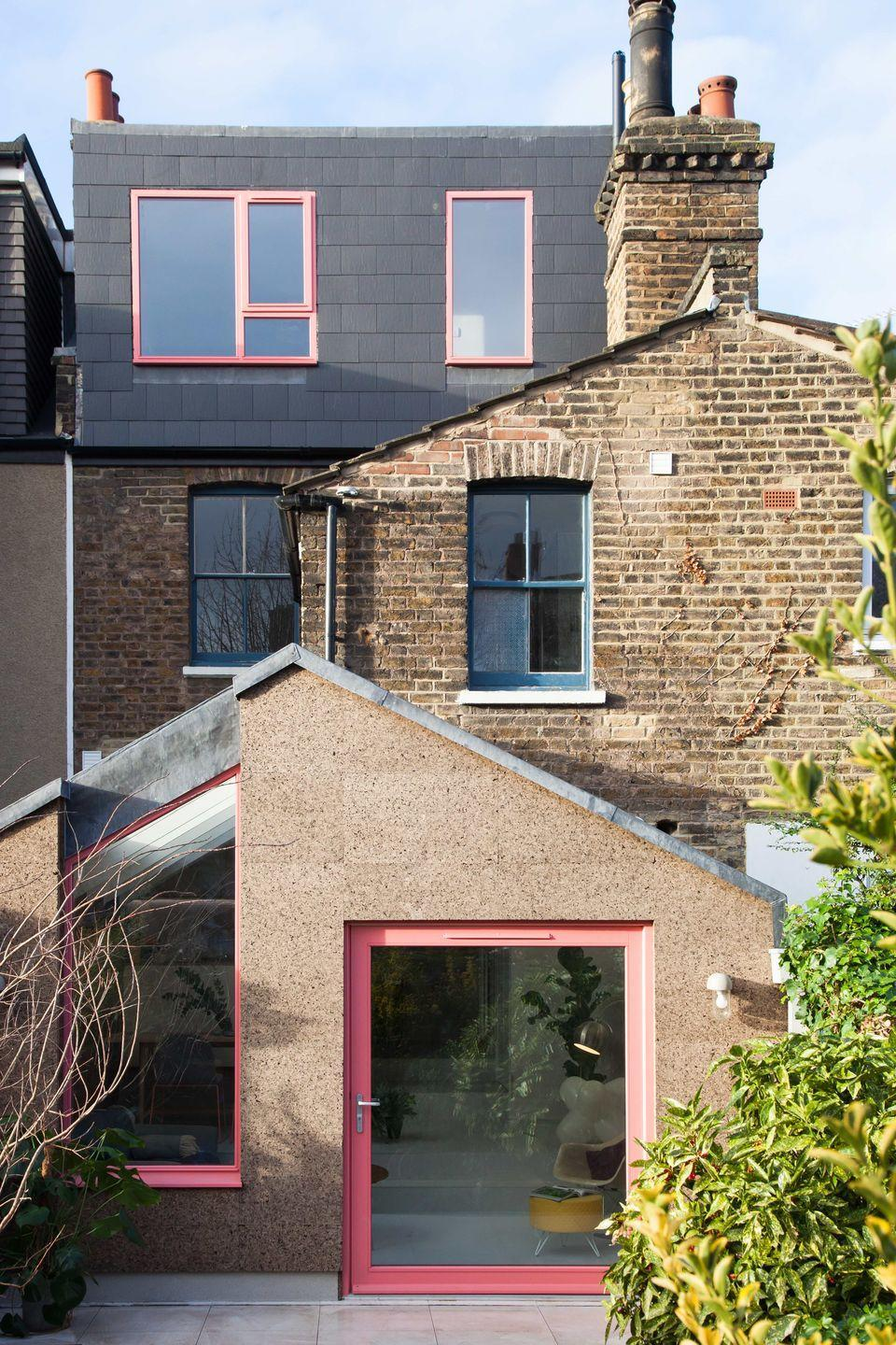 """<p>Nimi Attanayake and Tim O'Callaghan founded their practice with the aim of creating structures that everyone can enjoy. Combining bright colours and honest materials, projects like Cork House (pictured) and Slot House come with bags of character.</p><p><strong>They say </strong>'We bring a sense of playfulness and adventure to everything we do – to the buildings we create but also to how we inspire clients and communities, and how we collaborate with consultants and makers.' <a href=""""http://nimtim.co.uk/"""" rel=""""nofollow noopener"""" target=""""_blank"""" data-ylk=""""slk:nimtim.co.uk"""" class=""""link rapid-noclick-resp"""">nimtim.co.uk</a></p>"""