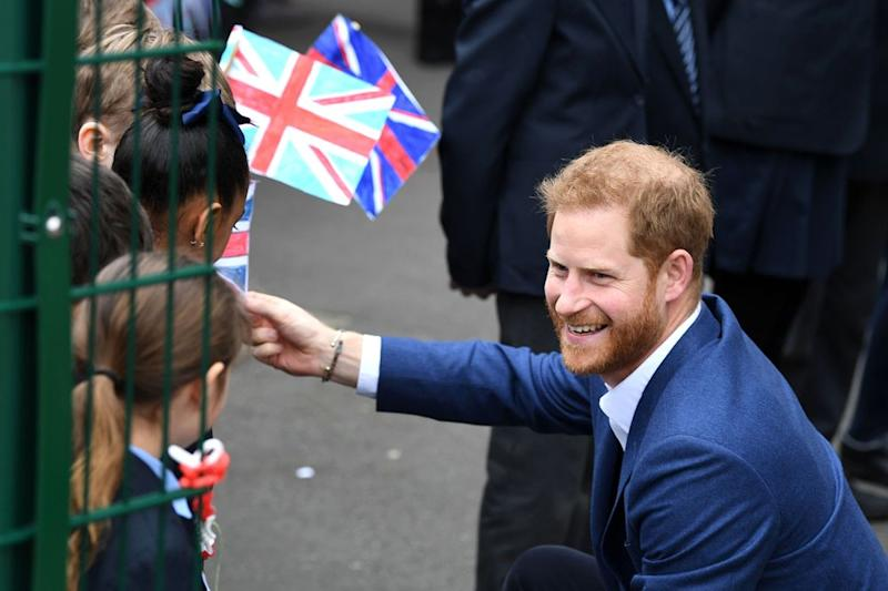 Prince Harry Gets an Adorable Welcome from Young Students