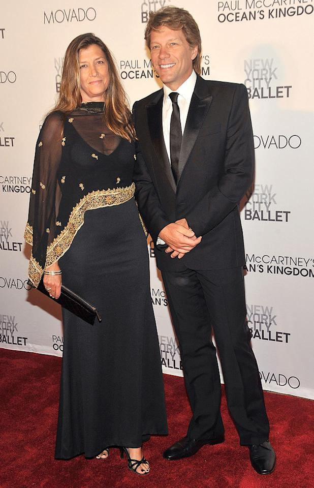 """Also spotted at the star-studded soiree ... rocker Jon Bon Jovi, who was accompanied by his wife, Dorothea. Gary Gershoff/<a href=""""http://www.wireimage.com"""" target=""""new"""">WireImage.com</a> - September 22, 2011"""