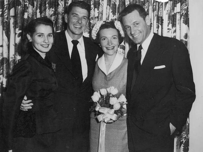 Ronald and Nancy Reagan on their wedding day in 1952.