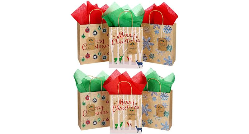 Christmas craft gift bags