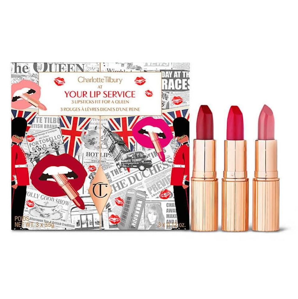 Charlotte Tilbury's Your Lip Service set, normally $85, will be $42.50