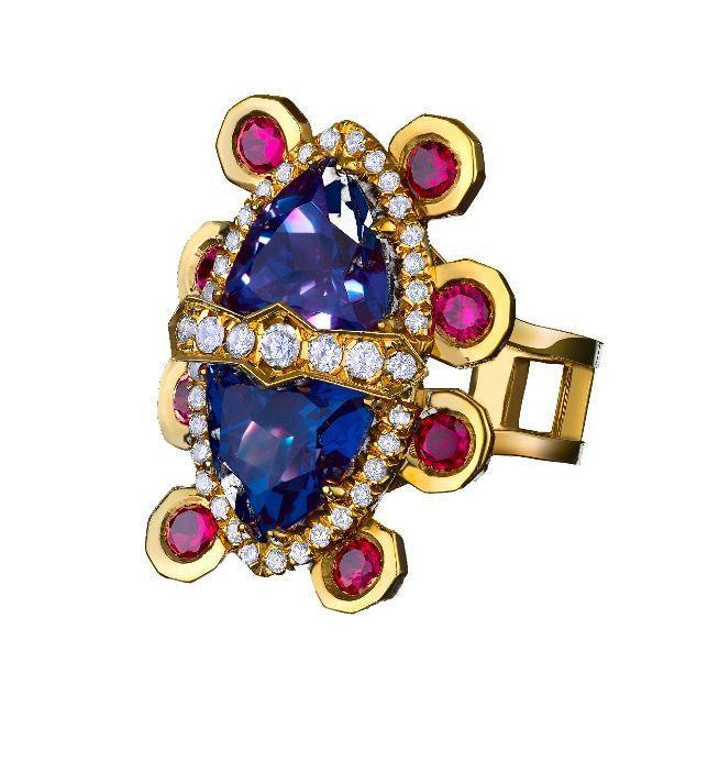 """<p><a class=""""link rapid-noclick-resp"""" href=""""https://go.redirectingat.com?id=127X1599956&url=https%3A%2F%2Fwww.1stdibs.com%2Fjewelry%2Frings%2Fcocktail-rings%2F18-karat-yellow-gold-alexandrite-rubies-diamonds-cocktail-ring-color-changing%2Fid-j_9740672%2F&sref=https%3A%2F%2Fwww.harpersbazaar.com%2Fuk%2Ffashion%2Fjewellery-watches%2Fg32891019%2Fbest-birthstone-jewellery-june%2F"""" rel=""""nofollow noopener"""" target=""""_blank"""" data-ylk=""""slk:SHOP NOW"""">SHOP NOW</a></p><p>Inspired by the traditional Saami word for 'creation', Volund's 'Algu' ring features two extraordinary deep blue/purple Alexandrites, representing the first pair of humans to come into the world. Their ornate gold setting represents the first living creature, the Holy Reindeer - a legend amongst the Northern peoples of Europe. </p><p>Alexandrite, diamond, ruby and gold ring, price on request, Volund at 1stdibs.com </p>"""