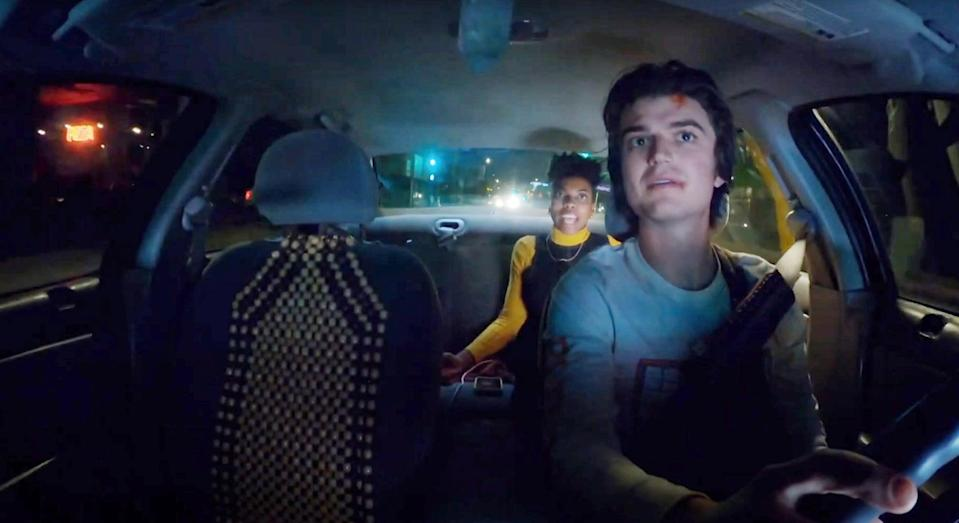 """<p>Ride-share driver Kurt, portrayed by Joe Keery from <strong><a class=""""link rapid-noclick-resp"""" href=""""https://www.popsugar.co.uk/Stranger-Things"""" rel=""""nofollow noopener"""" target=""""_blank"""" data-ylk=""""slk:Stranger Things"""">Stranger Things</a></strong>, will do anything for social media clout - even live streaming the murders of his passengers.</p> <p><a href=""""https://www.hulu.com/movie/spree-490c4cb5-bdad-4436-8f8c-9d8417f0e698"""" class=""""link rapid-noclick-resp"""" rel=""""nofollow noopener"""" target=""""_blank"""" data-ylk=""""slk:Watch Spree on Hulu."""">Watch <strong>Spree</strong> on Hulu.</a></p>"""