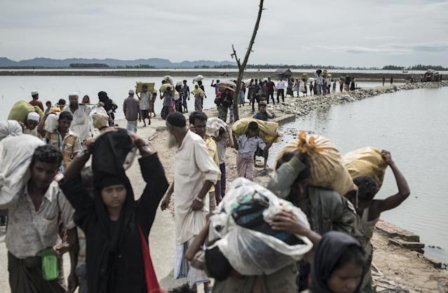 More than half a million Rohingya have fled to Bangladesh since attacks by militants belonging to the Muslim minority on Myanmar police posts sparked a brutal crackdown by security forces (AFP Photo/FRED DUFOUR)