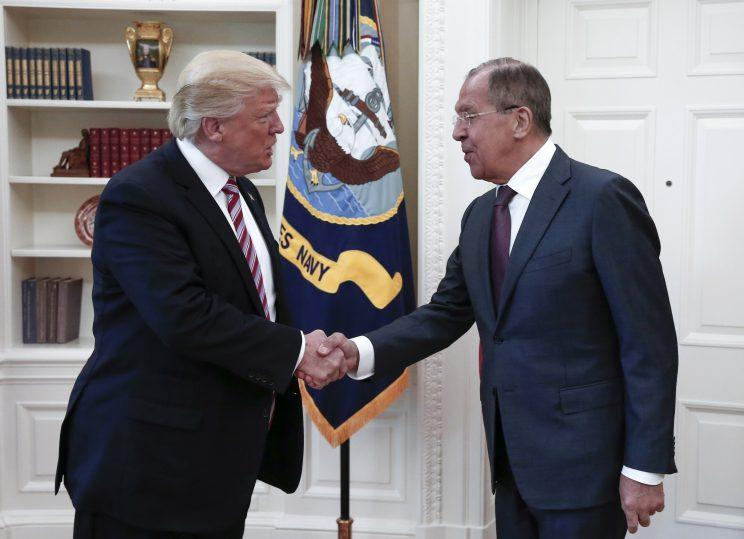 President Trump with Russia's Foreign Minister Sergey Lavrov