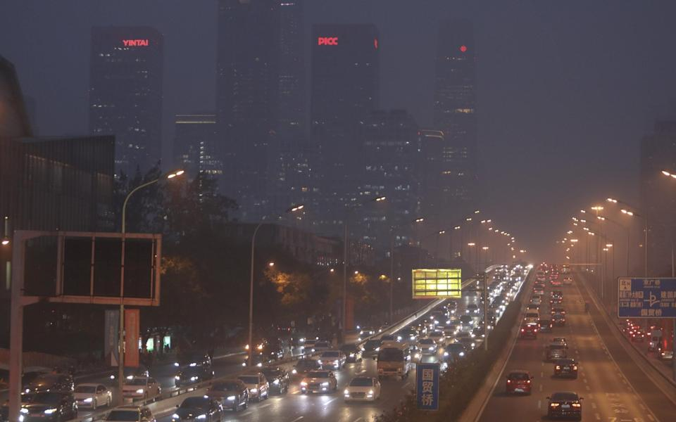 A pollution smog over the Chinese capital, Beijing - China News Service