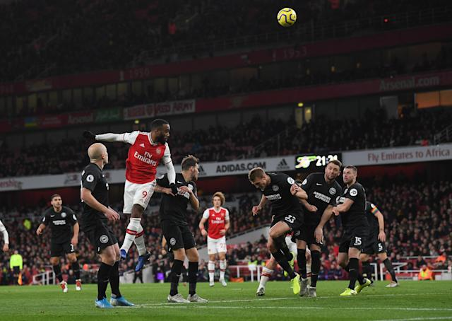 Lacazette had equalised but Arsenal then fell to another defeat. (Photo by David Price/Arsenal FC via Getty Images)