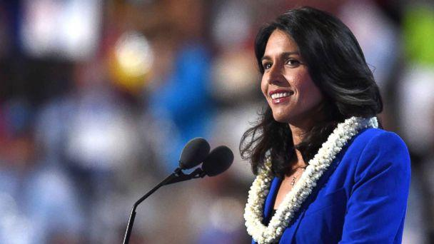 PHOTO: Representative Tulsi Gabbard speaks during Day 2 of the Democratic National Convention in Philadelphia, July 26, 2016. (Timothy A. Clary/AFP/Getty Images, FILE)