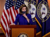 FILE PHOTO: House Speaker Nancy Pelosi introduces legislation to create 25th Amendment commission during news conference on Capitol Hill in Washington