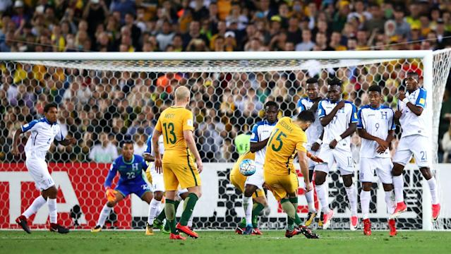 The Socceroos overcame Honduras and were indebted to their skipper for stepping up to the mark to clinch a fourth straight finals appearance