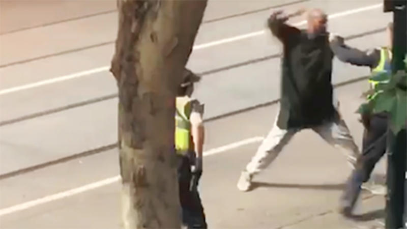 The Islamic State group says one of its fighters carried out a knife attack in Melbourne in which one man died and two were wounded. Source AAPMore