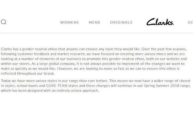 The company made an exciting announcement in response to complaints. Source: Clarks