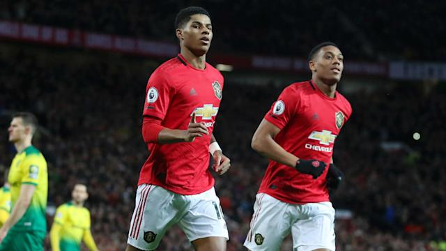 Marcus Rashford and Juan Mata led the way for Manchester United as they thrashed Norwich City 4-0 at Old Trafford on Saturday.
