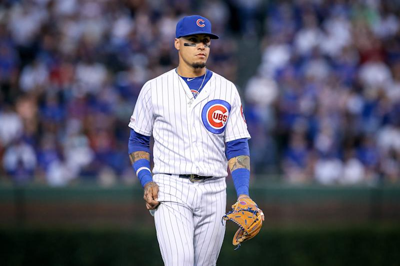 Chicago Cubs All-Star shortstop Javier Baez will be sidelined indefinitely with hairline fracture in left thumb. (Photo by Dylan Buell/Getty Images)