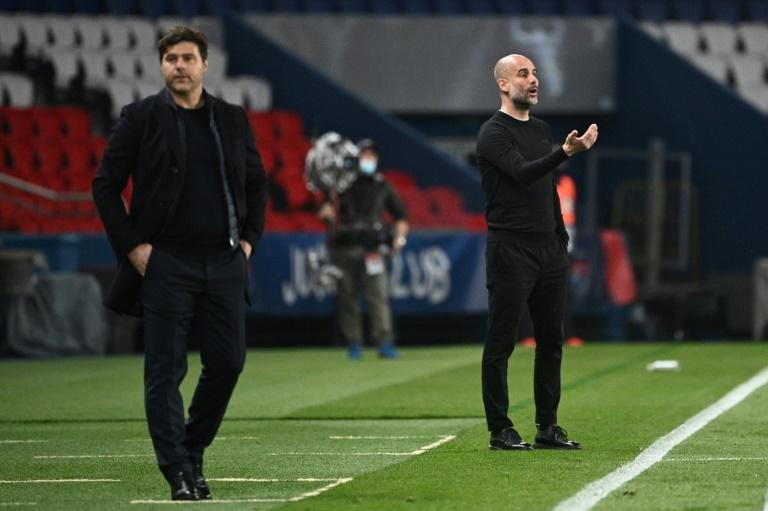 PSG coach Mauricio Pochettino is hoping his side can overturn a 2-1 first-leg deficit against Pep Guardiola's Manchester City when they travel to England next week