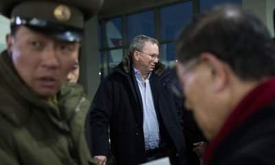 Google's Eric Schmidt Arrives In North Korea