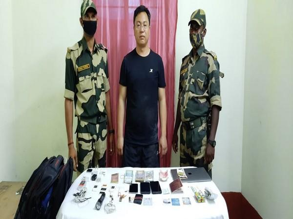 Han Junwe, the Chinese national apprehended by the BSF in West Bengal's Malda. (Photo/ANI).