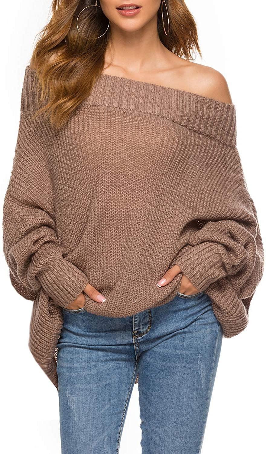 <p>The <span>Goldstitch Off Shoulder Batwing Sleeve Sweater</span> ($29) would be so cute on a cold-weather date night.</p>