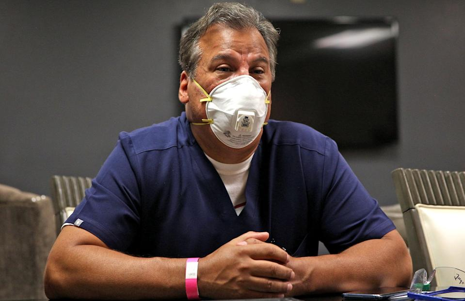 Val Verde County local health authority Dr. Jaime Gutierrez, seen in this Wednesday, July 22, 2020 photo, said resources are stretched thin amid a spike in positive cases of COVID-19 in recent weeks.