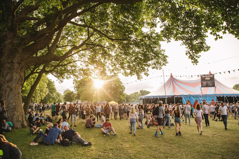 If the lockdown roadmap goes to plan, festival goers will not have to socially distancePR handout