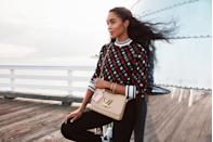 "<p><strong>Who:</strong> Louis Vuitton</p><p><strong>What:</strong> Laura Harrier and the Louis Vuitton Twist Bag</p><p><strong>Where:</strong> In Louis Vuitton stores and on louisvuitton.com</p><p><strong>Why: </strong>Louis Vuitton brings a fresh ""twist"" to their now-iconic Twist bag for spring 2021. The easy-to-carry bag now comes with sporty straps and leather lace detailing, and in new colorways from deep fucshia to rich tan, giving it a fresh update for the upcoming season. Louis Vuitton has chosen actress, activist, and house ambassador Laura Harrier as the face of this newest drop. </p><p><a class=""link rapid-noclick-resp"" href=""https://us.louisvuitton.com/eng-us/magazine/articles/twist-laura-harrier"" rel=""nofollow noopener"" target=""_blank"" data-ylk=""slk:SHOP NOW"">SHOP NOW</a></p>"