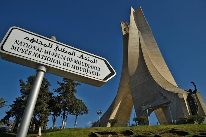 A view of the Maqam Echahid, a concrete monument commemorating the Algerian war for independence, is seen in the capital Algiers