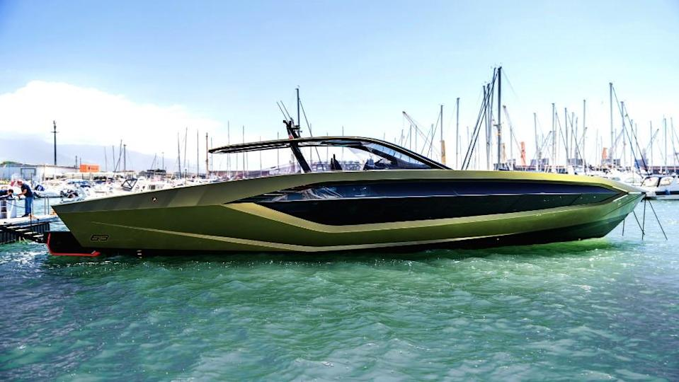 The first Tecnomar for Lamborghini 63 has all the features of the famed supercar marque. - Credit: Courtesy Italian Sea Group