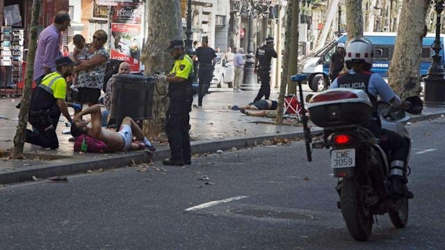 <p>Police operation underway but 'under control' after 'possible terrorist attack' south of Barcelona (ABC News) </p>