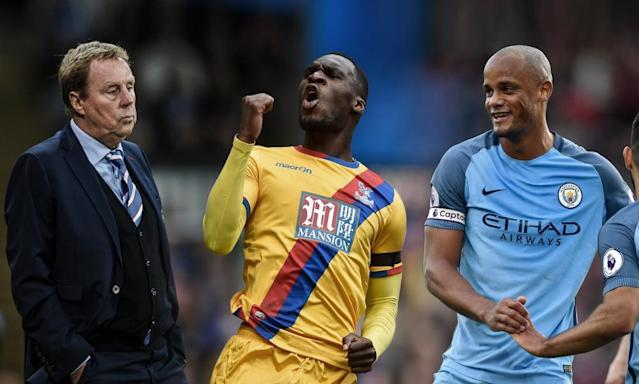 "<span class=""element-image__caption"">Harry Redknapp, Christian Benteke and Vincent Kompany will all be returning to the limelight this weekend.</span> <span class=""element-image__credit"">Photograph: Getty Images and Reuters</span>"