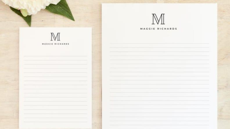 Best personalized grad gifts: Notepad