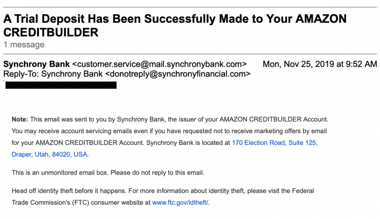 Synchrony: No Data Breach in Wake of Amazon Card Email Error