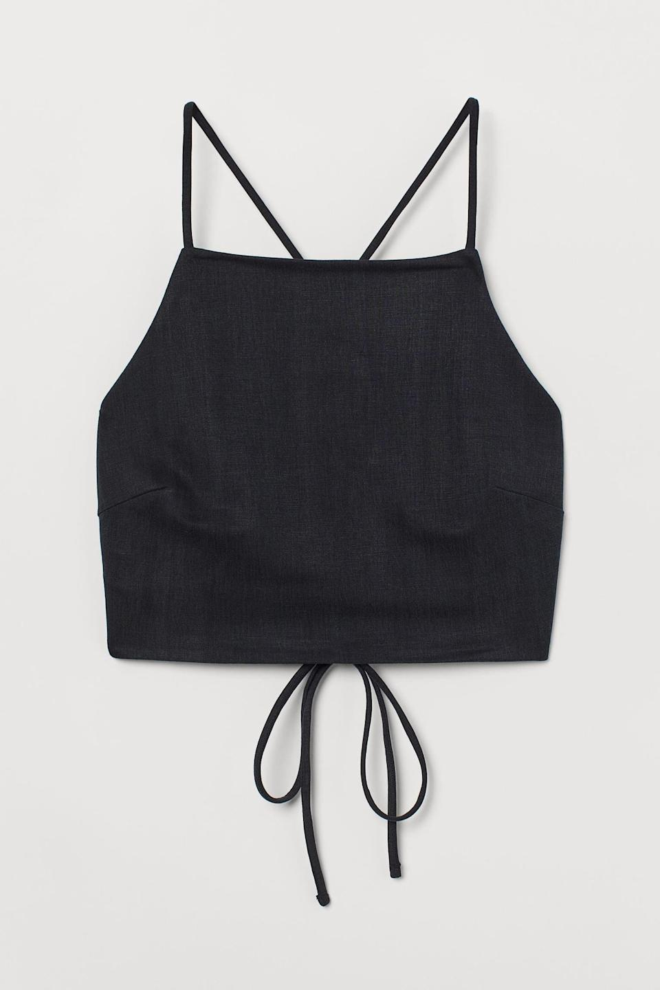 <p>This <span>Open-backed Crop Top</span> ($25) is begging to be worn with your high-waisted jeans.</p>