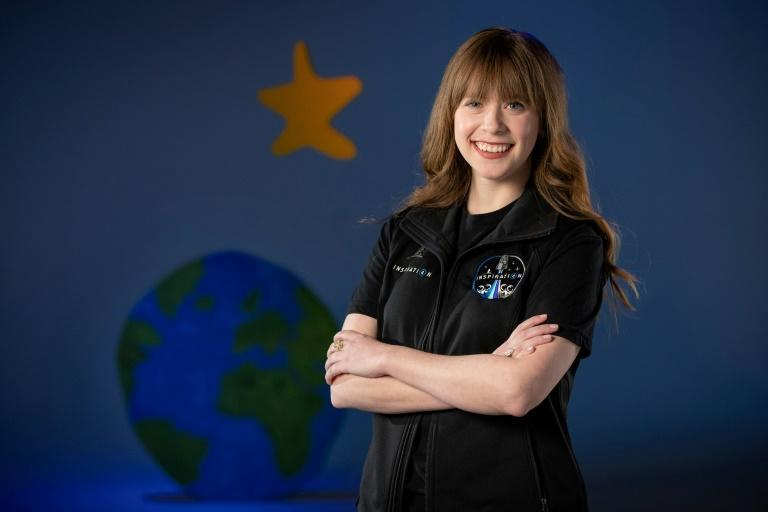 Hayley Arceneaux at a visit to SpaceX in California: the cancer survivor will be the youngest American in space (AFP/Mike Brown)