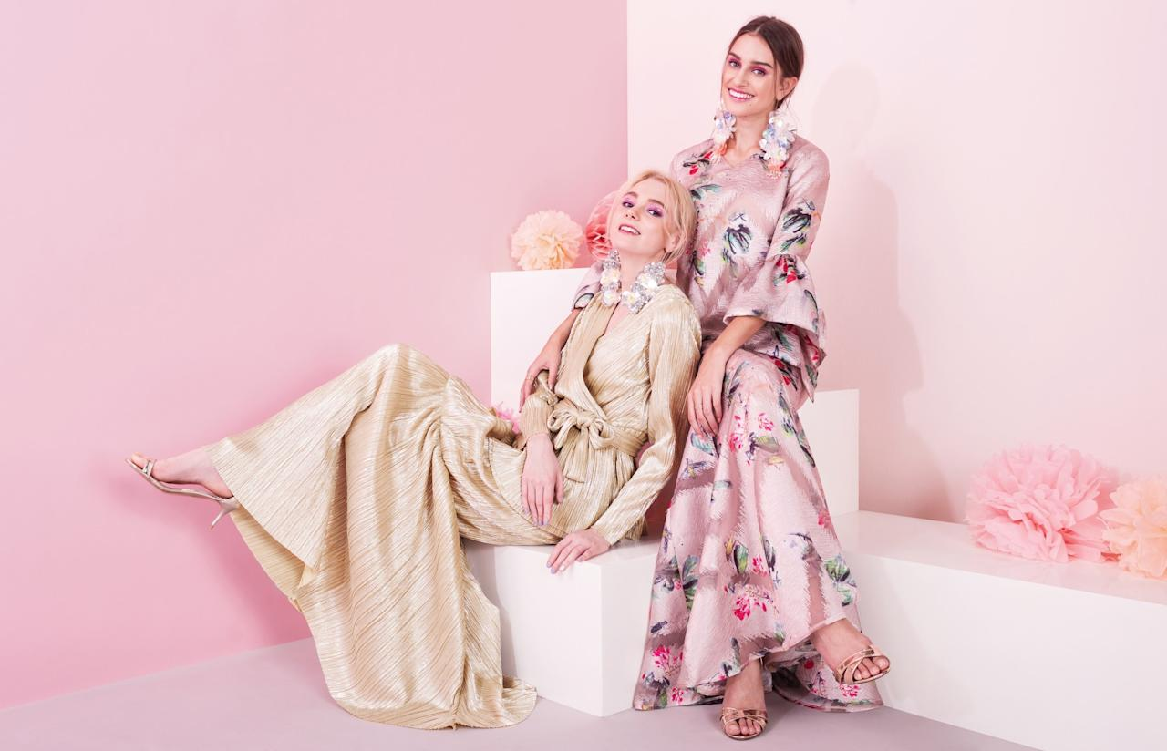 <p>Available on Zalora Singapore, this year's Hari Raya collection by Lubna features floral prints and soft pastel hues. (Photo: Zalora Singapore) </p>